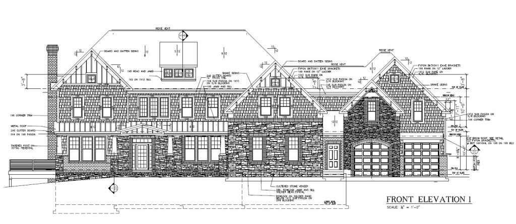 Sanctuary home plan front