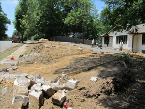 Driveway during construction 1
