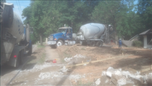driveway during construction 2