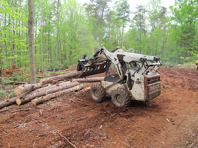 6 – skid moving logs