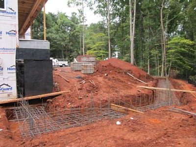 Retaining wall preparation
