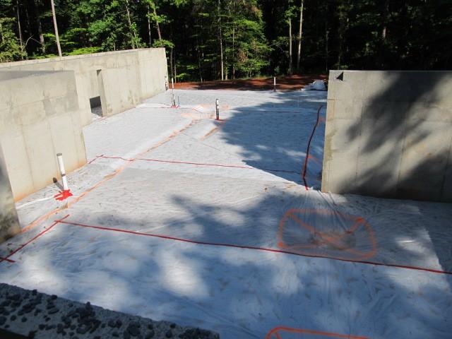 vapor barrier before concrete pour
